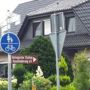 Parkplatz am Alfsee hinter dem Deich