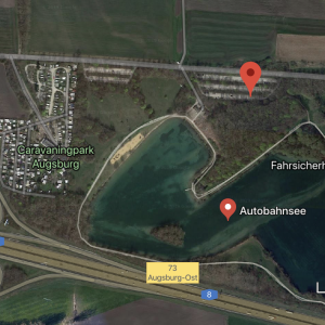 Autobahnsee A8 Augsburg-Ost