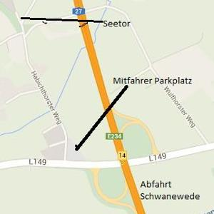 Mitfahrer Parkplatz Schwanewede