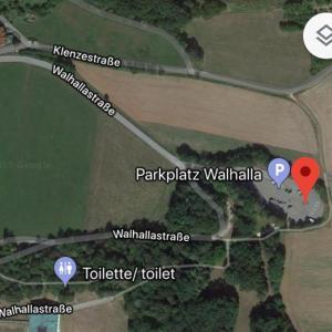 Donaustauf - Parkplatz der Walhalla